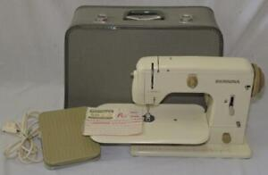 Bernina 700 Electric Sewing Machine in case with foot pedal