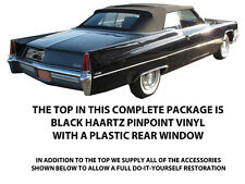CADILLAC DEVILLE & ELDORADO CONVERTIBLE TOP-DO IT YOURSELF PACKAGE 1965-1970