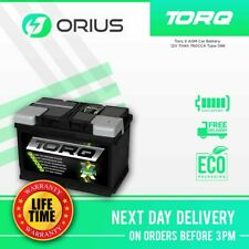 Torq X AGM Car Battery 12V 70Ah 760CCA Type 096 - Free Next Day Delivery