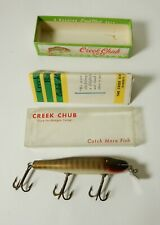 VINTAGE UNFISHED CREEK CHUB PIKIE No 700 FISHING LURE IN BOX WITH PAPERWORK