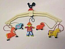 Fisher Price Toys Vintage 1973 Baby Mobile Crib Toy FARM ANIMALS Nursery
