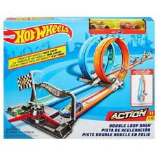 Hot Wheels Double Loop Dash Track Set Magfh85 From Tates Toyworld