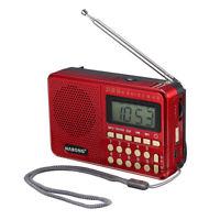 Portable Radio LCD Digital AM FM SW 21 Band Speaker USB TF Card MP3 Player  .