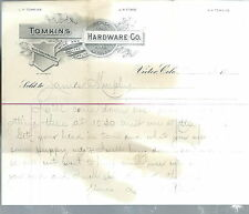 NB-024 - Tomkins Hardware Co, Victor, Colorado Memo on Invoice Year 1900 RARE
