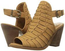 Jessica Simpson Celinna Woven Peep Toe Slingback Shooties, Sizes 6-10 Honey Brow