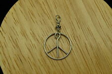 925 STERLING SILVER OPEN PEACE SIGN PENDANT CHARM #14049