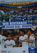 Programm Friendly 2011/12 Hertha BSC Berlin - Real Madrid