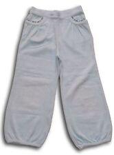 Pantaloni tuta ciniglia celeste Gymboree bimba bambina 5 anni