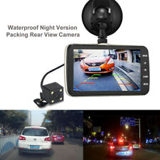 Hot Car HD 4inch 1080P DVR Driving Video Recorder Dual Lens Camera Rearview Cam