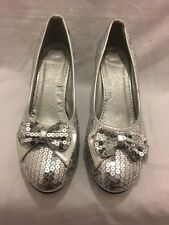 Silver Sequence Ladies Heels Shoes Size 5 / 38