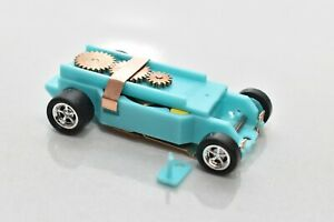 Turquoise DASH T-JET SLOT CAR CHASSIS