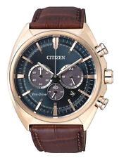 Citizen Eco-drive Chronograph 44mm Ca4283-04l Leather Strap Men's Watch