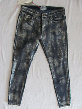 Current Elliott Skinny Ankle Cheville Jeans-Fool's Gold-Coated-Size 28- NWT $268