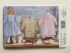 Teresa Layman Doll Clothes Pattern 7038 Vogue Doll Collection Dress Nightgown