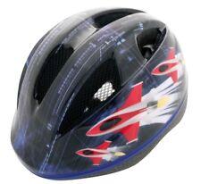 casco out-mould per bambino taglia xs 48-52cm grafica blu razzo. RMS bici