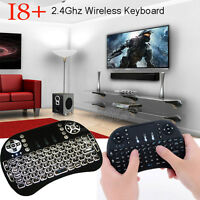 Wireless 2.4Ghz Keyboard Remote Backlit Mouse For Raspberry Pi PC Android free