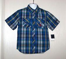 Us Polo Assn Toddler Boys Plaid Shirt Size 4T Blue Nwt $30