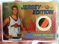2001 Topps Chrome Team Jersey Edition 2 Color Relic Shane Battier Grizzlies