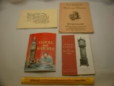 Book 755 – Lot of 4 watch and clock books
