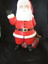 "Vintage 1973 Ceramic Duncan Mold Christmas Holiday Santa Claus  ~ 10.25"" Tall"