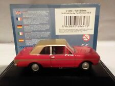 FORD CORTINA MK2 - Red/Gold 1:76 Oxford Diecast Model Car British