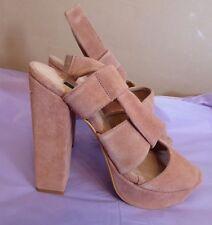 Hobbs NW3 UK6 EU39 US8 new Ponds pink high suede sandals