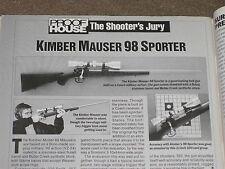 GUNS & AMMO TEST KIMBER 98 RIFLE, BUCKMARK 22, S&W AIRLITE