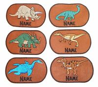 Dinosaurs Embroidered Personalised Sew on/Iron on name badge patch New!