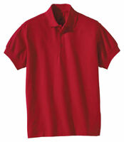 Edwards Garment Men's Three Button Placket Pique Short Sleeve Polo Shirt. 1500