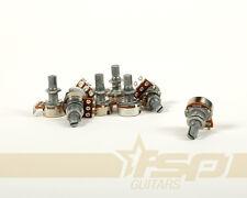 Pack of 8 A500K Split Shaft Potentiometer Volume Tone Guitar Bass Pots