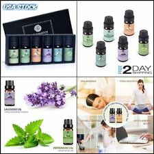 Essential and Original Oils Set 6 Bottles 10ml Aromatherapy for sleep Organic On