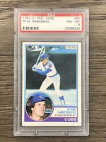 1983 O Pee Chee #83 Ryne Sandberg RC Rookie HOF Chicago Cubs PSA 8 NM-MT OPC