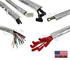 "Aluminized Metallic Heat Shield Sleeve Insulated Wire Hose Cover Wrap 1-1/4""x36"""