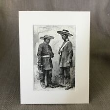 1890 Antique Print Mexican Night Watchmen Serenos Mexico Old Victorian Art