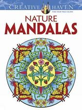 Dover Creative Haven NATURE MANDALAS Adult Coloring Book Marty Noble New 2012