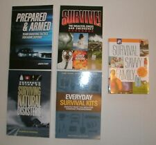 5 Personal Protection / Survival books * Kit / Guns / Training / Prepping