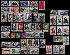 L'ANNÉE 1957 Complète, Oblitérés = Cote 74 € / Lot Timbres France n°1091 à 1141