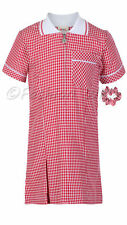 Girls School Summer Dress Gingham Age 3 4 5 6 7 8 9 10 11 12 13 14 15 16 17 18 2