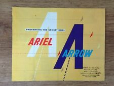 Ariel Arrow Motorcycle Brochure - 1960's