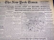 1944 APRIL 20 NEW YORK TIMES - BRITISH RELIEVE RINGED INDIA BASE - NT 777