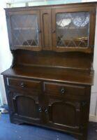 Vintage Oak Two Piece Dresser