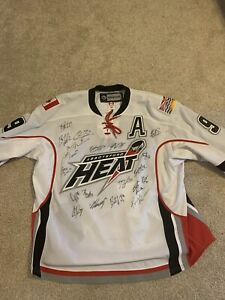 Abbotsford Heat AHL Hockey Game Used Team Signed Jersey 2013 - Calgary Flames
