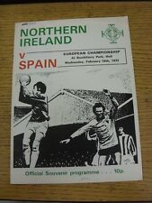 16/02/1972 Northern Ireland v Spain [At Hull City] (small number noted on front