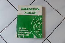 Honda XL250R Nachtrag Werkstatthandbuch, original Honda