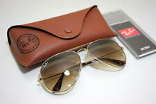New Ray-Ban AVIATOR Gold/Brown Gradient RB 3025 001/51 58mm
