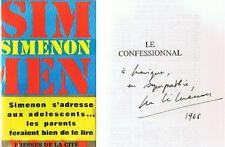 RARE EO GEORGES SIMENON + BANDEAU + JAQUETTE + DÉDICACE : LE CONFESSIONAL