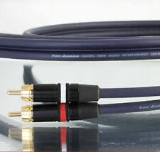 VAN DAMME 0.6m Audio Twin Interconnect 268-500-000 Neutrik Rean Phono RCA Plugs