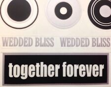 """WEDDING""Sticker Sheet Reminisce •Bride & Groom {Blk•Wht•Silver}Wedded Bliss"