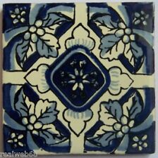 """90 Decorated Tile Handpainted 4x4"""" Mexican Tiles C213"""
