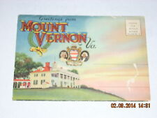 Vintage Souvenir FolderMount Vernon Virginia Postage 1 1/2 c Without Message #3